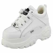 Buffalo London 1339-14 2.0 Cow Damen White Leder Sneaker Plattform