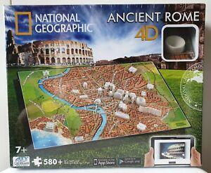 "National Geographic ANCIENT ROME 4D Cityscape Puzzle : 580+ Pieces 22"" x 14.67"""