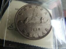 1938 CANADA SILVER ONE $1 DOLLAR GEORGE V COIN CERTIFIED ICCS MS-63
