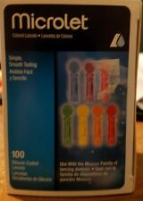 bayer microlet colored lancets 100 silicone coated exp date 2022-7