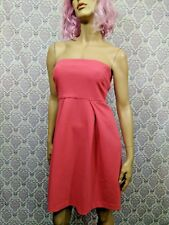 Banana Republic Strapless Dress Womens 6 Stretch Coral Pink Summer Party Wedding