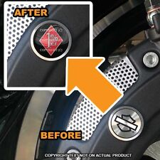 Brembo Front Brake Caliper Insert Set For Harley - RED SIL 1%ER PERCENT - 171