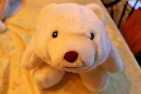 "Gund 1980 85th Anniversary w/tag White Cream Plush Polar Bear 12"" Vintage"