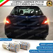 COPPIA LAMPADE PY21W BAU15S CANBUS 35 LED PEUGEOT 207 FRECCE POSTERIORI
