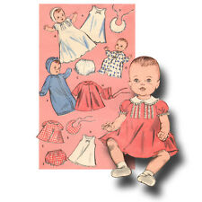 "50s Vtg Baby Doll Clothes Pattern ~ 25"" Tiny Tears, Betsy Wetsy, Dy Dee, Toodles"