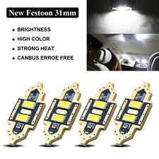 4 x 31mm 5730 2-SMD Samsung LED Canbus Car Interior Map Dome Festoon Light White