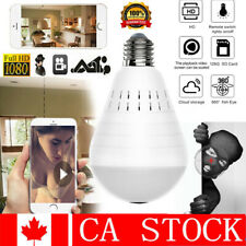 WiFi 1080P HD Hidden Light Bulb Spy Camera 360° Panoramic Wireless Security Home