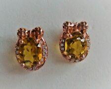 6 x 8 mm Yellow Beryl Earrings