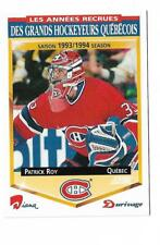 1993-94 DIANA DURIVAGE, GRANDS HOCKEYEURS QUEBECOIS # 17 PATRICK ROY !!