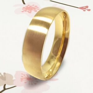 Fashion Jewelry Yellow Gold Titanium 7mm Thin Dome Gifts Men's Ring UKCSK 101