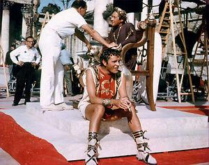 "richard burton & rex harrison on the "" anthony and cleopatra "" set"
