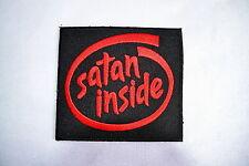 SATAN Dentro, PARCHE, 666 , para planchar, INSIGNIA, Iron on