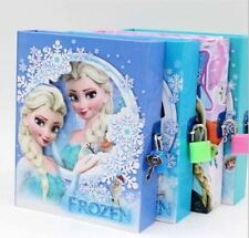 BARGAIN 4 x Disney Frozen Anna & Olaf Snowflake Childrens Diary with Lock!