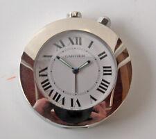 reveil CARTIER horloge ronde quartz SANTOS pendulette réf. 500908GD vers 2005