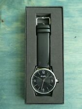 Simplify The 6300 Collection Black Dial 41 mm Quartz w Black Leather RP $185