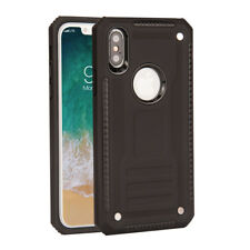 Hybrid Armor Refined Shockproof Hard Phone Case Cover For Apple iphone X + Film