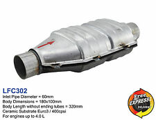 Keramik Universal Katalysator KAT Oval 60mm 400 Zeller / 400cpsi EURO3 , LFC302