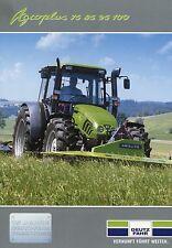 Prospekt Deutz Fahr Agroplus 75 85 95 100 3 01 2003 Trecker Schlepper tractor