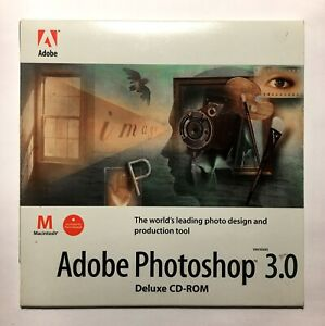 Adobe Photoshop 3.0 - Legacy Vintage Software - Disk Only with Serial Number Inc
