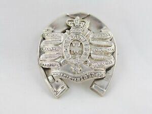Rare Antique Carabiniers 6th Dragoon Guards 1906 Silver Sweetheart Badge Brooch