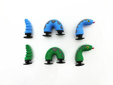 2pc 3D Shoe charms Rattlesnake snake For jibbitz croc shoes & Bracelet Wristband