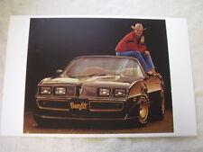 1980  PONTIAC TRANS AM & BURT RENOLDS  IN COLOR   11 X 17  PHOTO  PICTURE