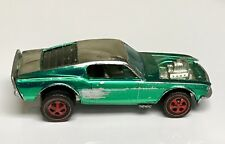 Hot Wheels Redline 1969 Green Over Chrome Mustang Boss Hoss Spoiler Club Car