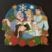 Christmas Caroler Jumbo Series Cinderella Prince Gus Jaq LE400 Disney Pin 106991