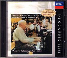 Wilhelm BACKHAUS BRAHMS Piano Concerto No.2 MOZART 27 KARL BÖHM CD Classic Sound