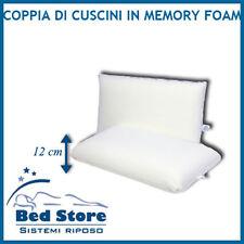 COPPIA cuscini LETTO MEMORY FOAM Saponetta CON FODERA IN COTONE