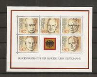 RFA 1982 BF 17 PRESIDENTS DE LA REPUBLIQUE FEDERALE ALLEMANDE NEUF **