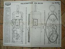 prospectus pompe a essence : plan volucompteur  BOUTILLON type 200BX100
