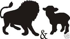 LION AND LAMB CAR DECAL STICKER