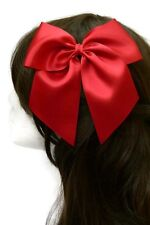"Big Red Hair Bow Satin 6"" Inch Wedding Goth Large Bow Lolita Cosplay UK"