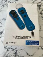 PSMove - Controller and Navigation Silicone Jackets and Wrist Strap: Blue