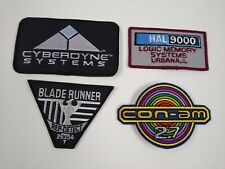 Sci Fi Movie Patch Lot Of 4 Outland Con Am Space Odyssey Terminator Blade Runner