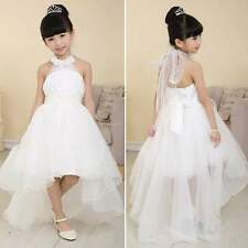 Flower Girl Princess Pageant Wedding Birthday Party Formal Communion Tulle Dress 140