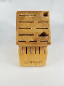Wusthof Beechwood Light Oak 17 Slot WOOD Storage knife Block Good Used Condition