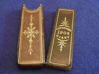 Antique Edwardian Condensed Diary 1903 original case slim pocket diary De La Rue