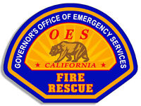 """4"""" california governor's office of emergency services fire rescue decal sticker"""