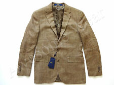 New Ralph Lauren Polo Silk & Flax Beige Herringbone Sport Coat Jacket size 46 L