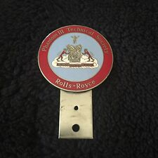 Rolls-Royce Bentley RROC Phantom III V12 Technical Society Enamel Badge Bar