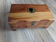Antique 1935 Wooden Decorative Box - Jewelry/Trinkets