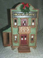 Christmas Valley Collectible Railways Lighted Ceramic Building 1995