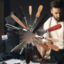 18tlg. Leder Bastelwerkzeug Craft Hand Nähen Sewing Stitching Groover Set