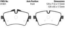 EBC Yellowstuff Sport Brake Pad Set for 14-20 Mini Hardtop 2.0 Turbo Cooper S