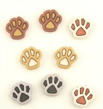 - Charming Beads Shank - Y09260 Packet of 20 x Mixed Acrylic 12 x 14mm Paw Print Buttons