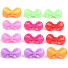 Random 10 Pcs Bow Hairpin Resin Candy Color Hair Clips Baby Kids Girls Fad