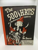 The 500 Hats Of Bartholomew Cubbins~Dr. Seuss First 1st 1938 Book HC/DJ