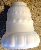 Lamp Fixture Replacement Embossed Shade 2 1/4 Glass Globe Fan Ceiling Fixture